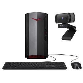 Acer Nitro N50 1650 Gaming Desktop PC Intel Core i5-10400 Hexa-Core, GTX 1650 HDMI/DVI, 8GB RAM, 1TB SSD+2TB HDD, Wi-Fi 6, Ethernet, Mytrix Webcam, Win 10