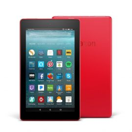 "Amazon - Fire 7 - 7"" - Tablet - 16GB 7th Generation, 2017 Release - Punch Red"