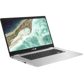"ASUS - 15.6"" Chromebook - Intel Celeron - 4GB Memory - 32GB eMMC Flash Memory - Silver"