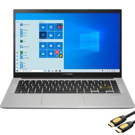 ASUS Vivobook 14'' FHD NanoEdge Lightweight Laptop, Intel Core i3-1005G1 Dual-Core, 4GB DDR4 RAM, 256GB PCIe SSD, USB-C, HDMI, Wi-Fi, BT, Media Card Reader, Webcam, Mytrix HDMI Cable, Win 10