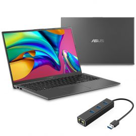 "ASUS VivoBook 15.6"" FHD NanoEdge Laptop, AMD Ryzen 3 3200U up to 3.50 GHz, 8GB RAM, 256GB SSD, FP Reader, USB-C, RJ-45 LAN, Backlit, Keypad, HDMI, Win 10"