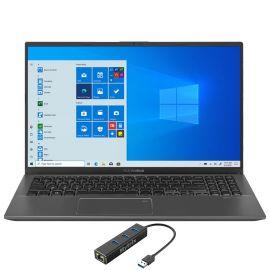 "ASUS VivoBook 15.6"" FHD Touchscreen Laptop, 1080p NanoEdge, Inetl Core i3-1005G1 Dual-Core, 12GB RAM, 128GB SSD+1TB HDD, USB-C, FP Reader, WebCam, Mytrix Ethernet Hub, Win 10 S"