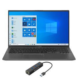 "ASUS VivoBook 15.6"" FHD Touchscreen Laptop, 1080p NanoEdge, Inetl Core i5-1035G1 Quad-Core, 20GB RAM, 256GB SSD+2TB HDD, USB-C, FP Reader, WebCam, KeyPad, Mytrix Ethernet Hub, Win 10"