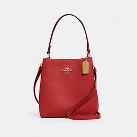 Coach 1011 Small Leather Town Bucket Bag In 1941 Red/Oxblood
