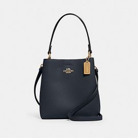 COACH 1011 SMALL TOWN BUCKET LEATHER BAG IN MIDNIGHT OXBLOOD
