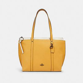 Coach 1573 May Leather Tote Honey