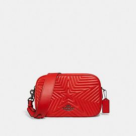 COACH 1904 JES CROSSBODY WITH STAR QUILTING IN MIAMI RED