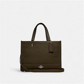 Coach 1959 Dempsey Leather Carryall In Cargo Green