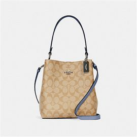 Coach 2312 Small Town Bucket Bag In Signature Canvas LT KHA/PERIWINKLE