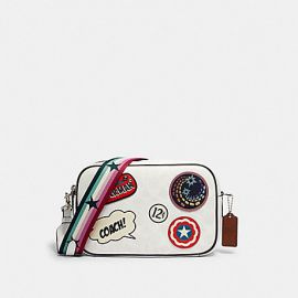 COACH 2538 COACH │ MARVEL JES CROSSBODY IN SIGNATURE CANVAS WITH PATCHES CHALK MULTI