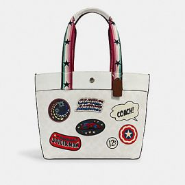 COACH 2539 COACH │ MARVEL JES TOTE IN SIGNATURE CANVAS WITH PATCHES CHALK MULTI