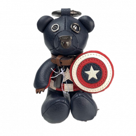 COACH 2752 COACH │ MARVEL CAPTAIN AMERICA COLLECTIBLE BEAR BAG CHARM  MIDNIGHT NAVY/RED
