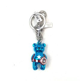 COACH 2755 COACH │ MARVEL CAPTAIN AMERICA BEAR BAG CHARM IN MIDNIGHT NAVY/RED