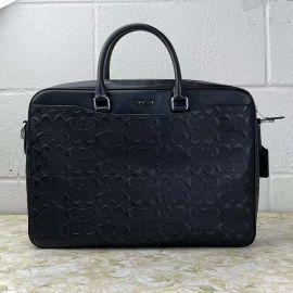 Coach 4187 Signature Men's Coated Leather Briefca Black