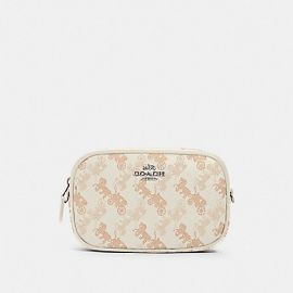 Coach 78603 Convertible Belt Bag With Horse And Carriage Print Indigo Creme Beige Multi