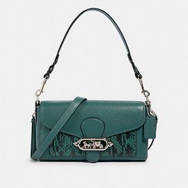 Coach 91034 Small Jade Leather Crossbody Shoulder Bag Dark Turquoise