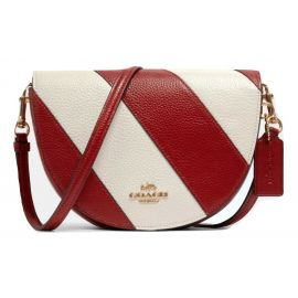 COACH C1429  ELLEN Red/Chalk Crossbody Pebble Leather Purse Bag