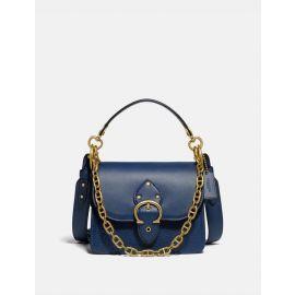 Coach C3840 Beat Shoulder Bag 18 Leather In Deep Blue