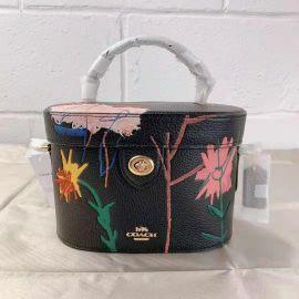 Coach C5656 X Jean-Michel Basquiat Earth Kay Crossbody Bag Leather Black Multi