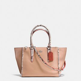 Coach F11751 Carryall  in Natural Refined Leather With Python Embossed Leather
