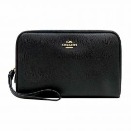 Coach F24797 Women's Boxy Cosmetic Makeup Holder Bag Case in Crossgrain Leather