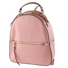 COACH F76624 Jordyn Crossgrain Leather Top Handle Backpack In Pink Petal