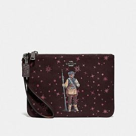 COACH F88487 STAR WARS X COACH GALLERY POUCH WITH PRINCESS LEIA AS BOUSHH