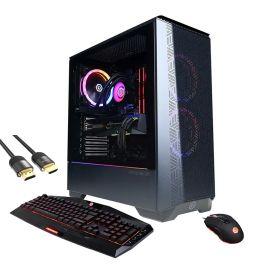 CyberPowerPC 3070 VR Gaming Liquid Cool Desktop, GeForce RTX 3070, Intel 8-Core i7-10700F, 32GB RAM, 1TB PCIe SSD+1TB HDD, HDMI/DP, RJ-45, Wi-Fi, RGB, Mytrix HDMI 2.1 Cable, Win 10
