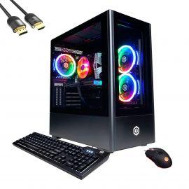 CyberPowerPC Gamer Xtreme Gaming Desktop, Intel 8-Core i7-11700F, GeForce RTX 3060, 32GB RAM, 1TB PCIe SSD+2TB HDD, USB-C, HDMI/DP, RJ-45, Wi-Fi, RGB Rig, Mytrix HDMI 2.1 Cable, Win 10