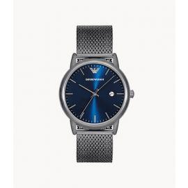 Emporio Armani AR11053 Men's Three-Hand Date Gunmetal Stainless Steel Mesh Watch