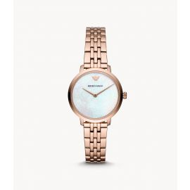 Emporio Armani AR11158 Women's Two-Hand Rose Gold-Tone Steel Watch