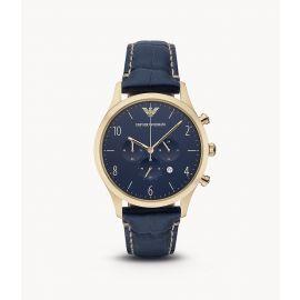 Emporio Armani AR1862 Men's Classic Analog Display Analog Quartz Blue Watch
