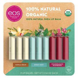 EOS USDA Organic Smooth Natural Shea Lip Balm 9 Stick Pack