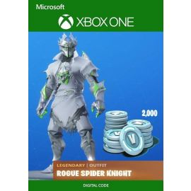 Fortnite Legendary Rogue Spider Knight Outfit + 2000 V-Bucks Bundle - Xbox One Key Card