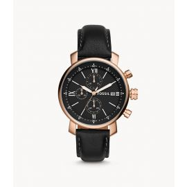 Fossil BQ1008 Rhett Chronograph Black Leather Men's Watch
