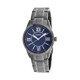 Fossil BQ1134 40mm Grey Steel Bracelet & Case Quartz Blue Dial Men's Watch