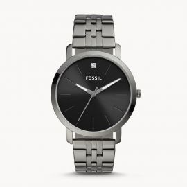 Fossil BQ2419 Lux Luther Three-Hand Smoke Stainless Steel Watch
