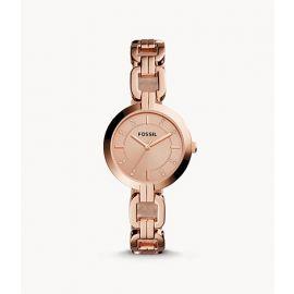 Fossil BQ3206 Kerrigan Three-Hand Rose Gold-Tone Stainless Steel Watch