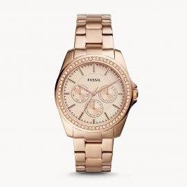 Fossil BQ3316 Janice Multifunction Rose Gold-Tone Stainless Steel Watch
