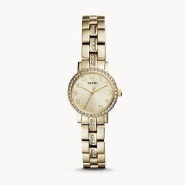 Fossil BQ3372 Shae Mini Three-Hand Gold-Tone Stainless Steel Watch