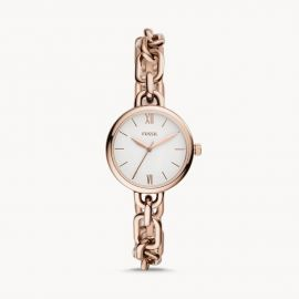 Fossil BQ3545 Embry Three-Hand Rose Gold-Tone Stainless Steel Watch