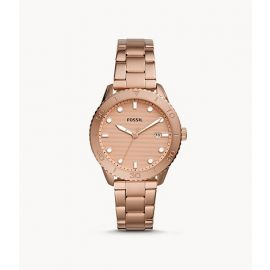 Fossil BQ3596 Dayle Three-Hand Date Rose Gold-Tone Stainless Steel Watch