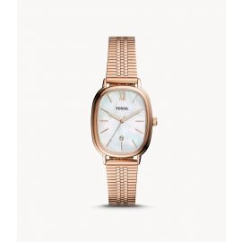 Fossil BQ3609 Lyla Three-Hand Date Rose Gold-Tone Stainless Steel Watch