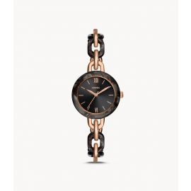 Fossil BQ3621 Embry Three-Hand Two-Tone Stainless Steel and Acetate Watch