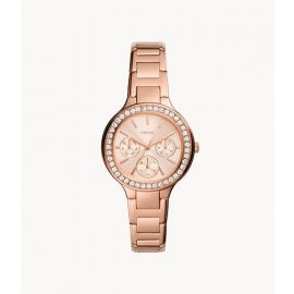 Fossil BQ3706 Weslee Multifunction Rose Gold-Tone Stainless Steel Watch