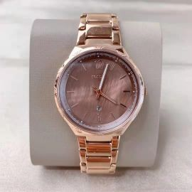 Fossil BQ3749 Ladies Brown Dial Rose Gold Stainless Steel Watch