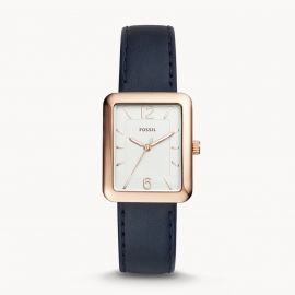 Fossil ES4158 Atwater Three-Hand Navy Leather Watch