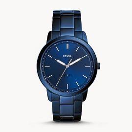 Fossil FS5461 The Minimalist Three-Hand Ocean Blue Stainless Steel Watch