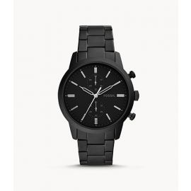 Fossil FS5502 Townsman 44mm Men's Chronograph Black Stainless Steel Watch