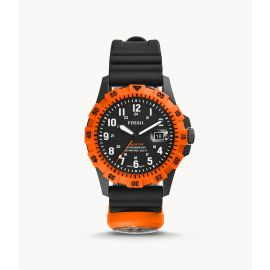 Fossil FS5733 FB-Adventure Three-Hand Date Black Silicone Watch